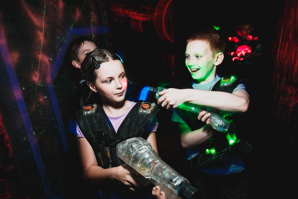 Лазертаг для детей в Перми, день рождения